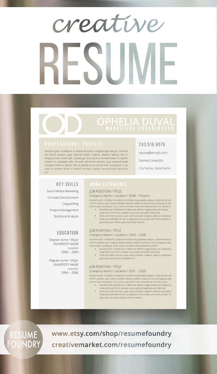 Creative Resume Template From Resume Foundry Stand Out From The