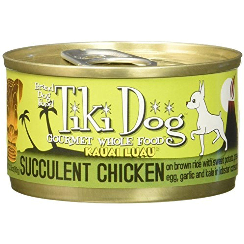 Tiki Dog Gourmet Whole Food 12 Pack Kauai Luau Succulent Chicken