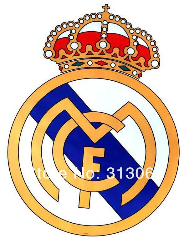 Free Shipping Giant Size Real Madrid Football Club Badge Wall Sticker Giant Size D Escudo Del Real Madrid Logotipo Del Real Madrid Imagenes De Real Madrid