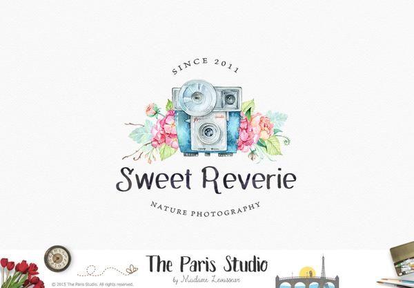 Watercolor Camera Logo Pay As You Go Custom Logo Design