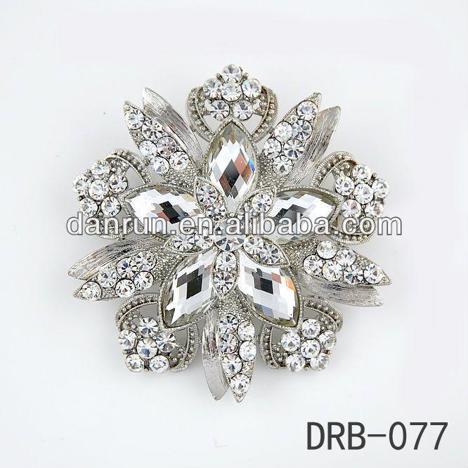 2014 New Shining Brooch For Wedding Invitations Brooches Crystal