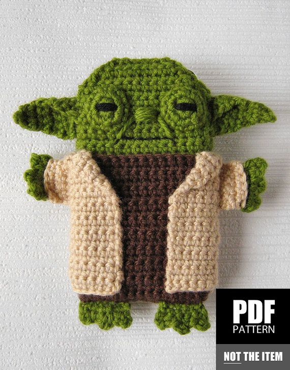 Pdf Pattern Yoda Star Wars Iphone 7 6 5 Crochet Case Cozy