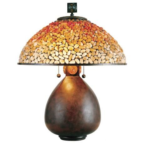 Quoizel Pomez Table Lamp With Agate Stone Shade 86215 Lamps Plus Tiffany Style Table Lamps Stone Lamp Tiffany Table Lamps