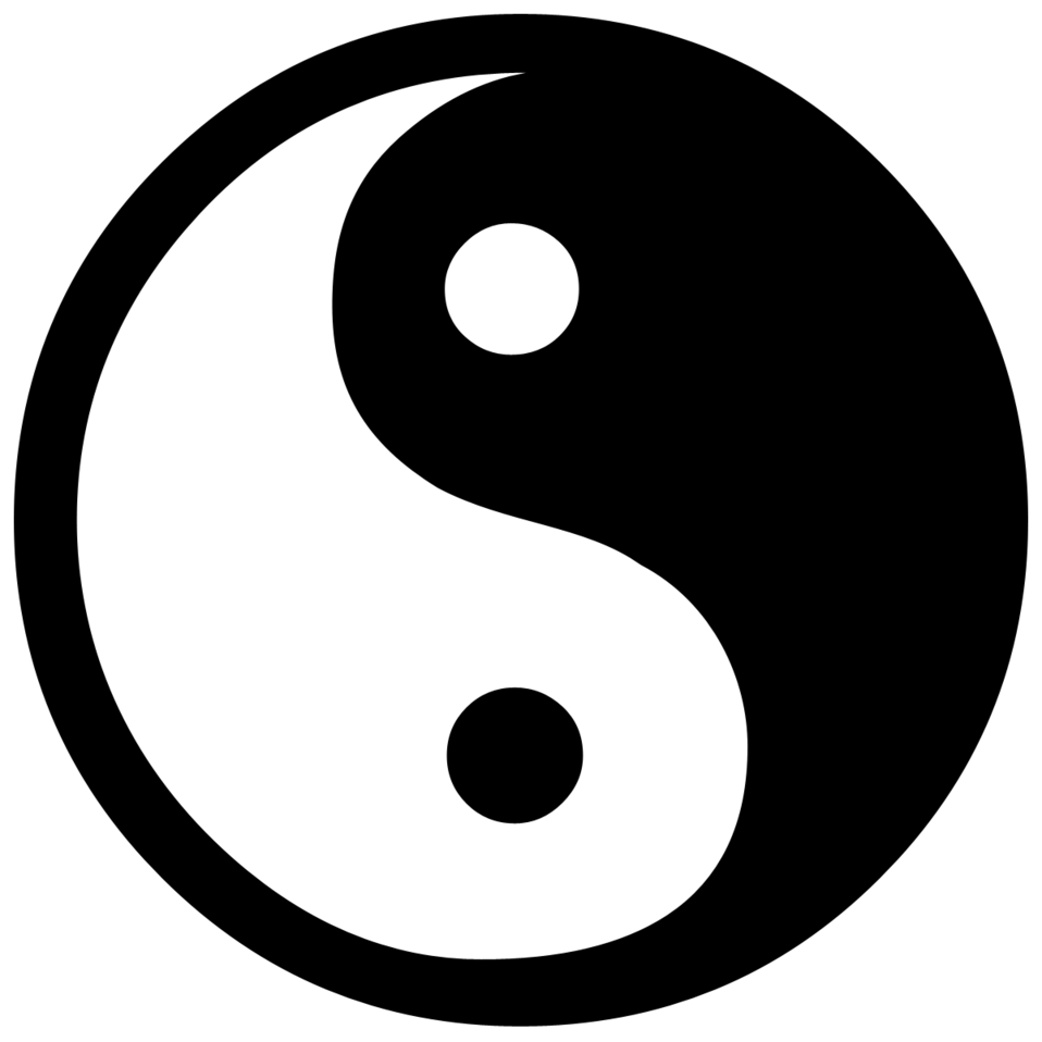 a yin yang symbol with a transparent background free stock photo rh pinterest com Yin and Yang Wolf Nature Yin Yang