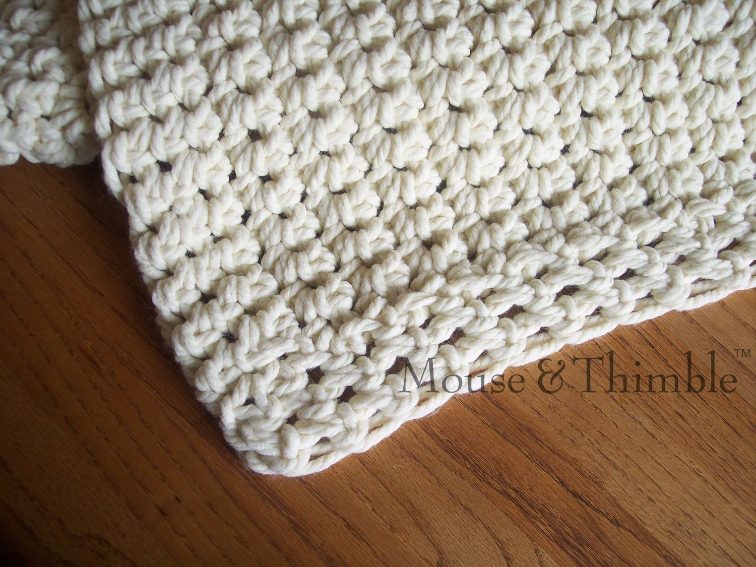 Chunky Afghan Sofa Throw Crochet PATTERN by MouseAndThimble ...
