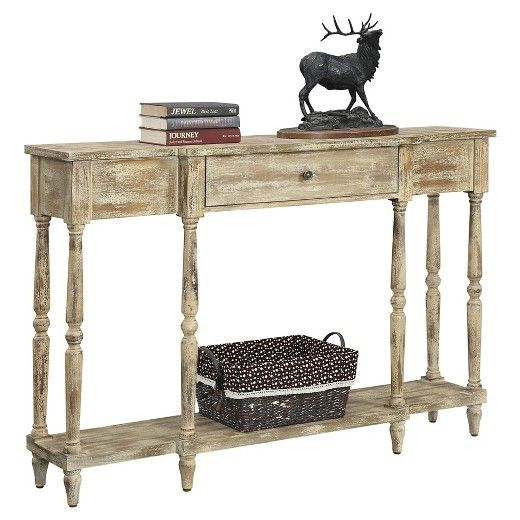 Wyoming Weathered Antique Console - Convenience Concepts   Wyoming ...