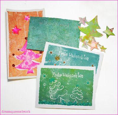 Weihnachtskarten Bedrucken.Tiefdruck Mit Milchkartons Drucken Mit Getränkekartons Printing With