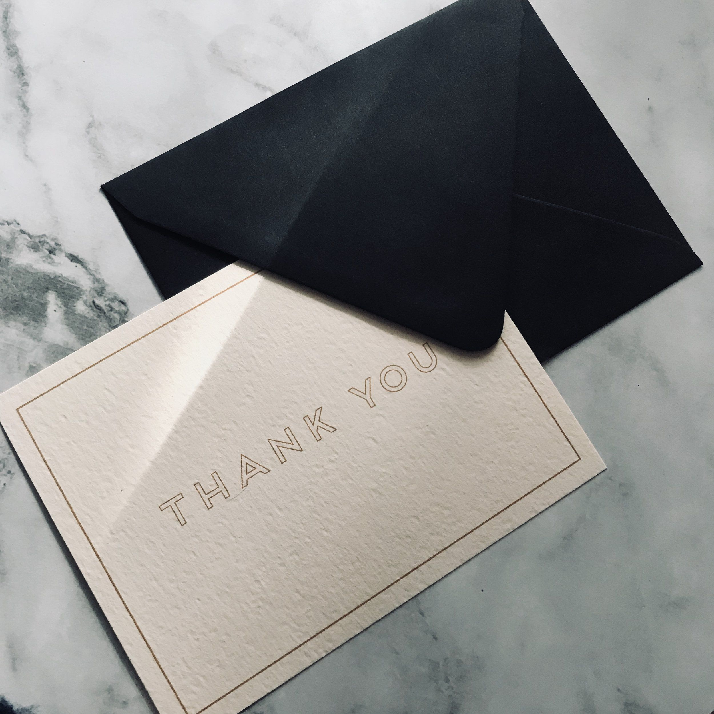modern minimalist thank you note card  thank you note