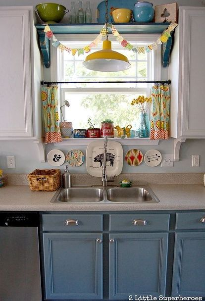 Boring To Blue Kitchen Makeover Pinterest Kitchen Design Enchanting Diy Blue Kitchen Ideas