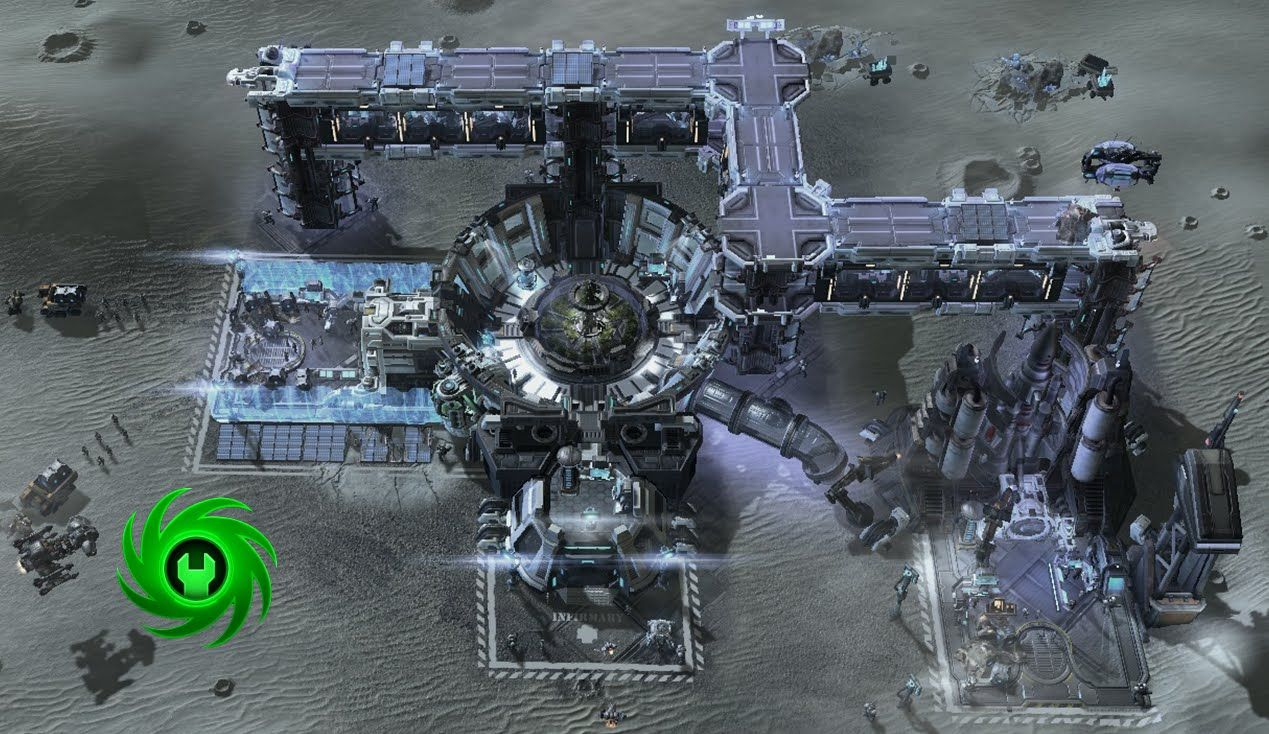 Speed mapping in Starcraft 2 Editor Moon base