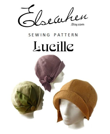 SEWING PATTERN Lucille 1920s Twenties Cloche by ElsewhenMillinery ...
