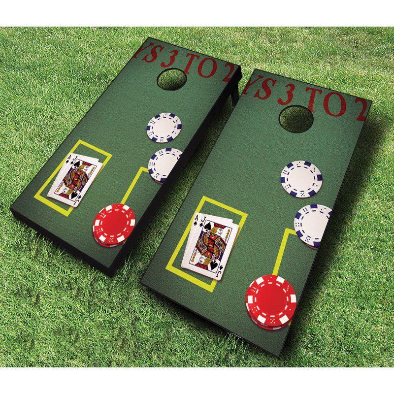 AJJ Cornhole Blackjack Cornhole Set with Bags Red/Yellow Bag - 107-BLACKJACK RED/YELLOW