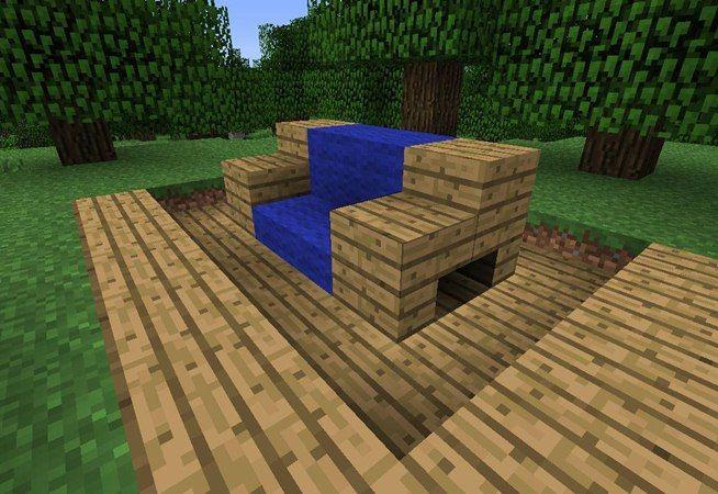 How To Make Furniture In Minecraft Modern Minecraft Houses Minecraft Couch Minecraft House Tutorials