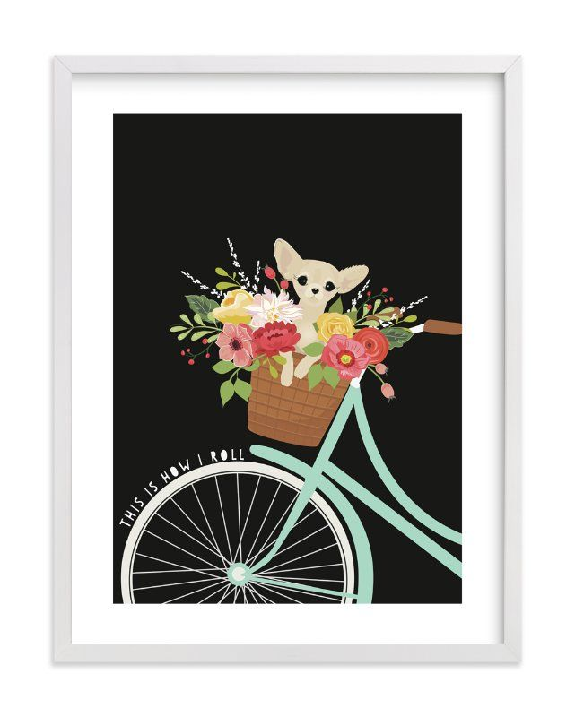 """""""This Is How I Roll."""" - Limited Edition Art Print by Susan Moyal in beautiful frame options and a variety of sizes."""