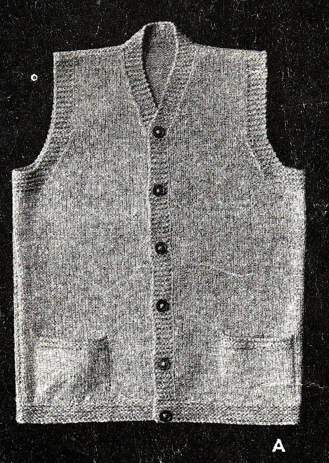 Vintage Knitting Pattern Mens 1940 s WWII Service ...