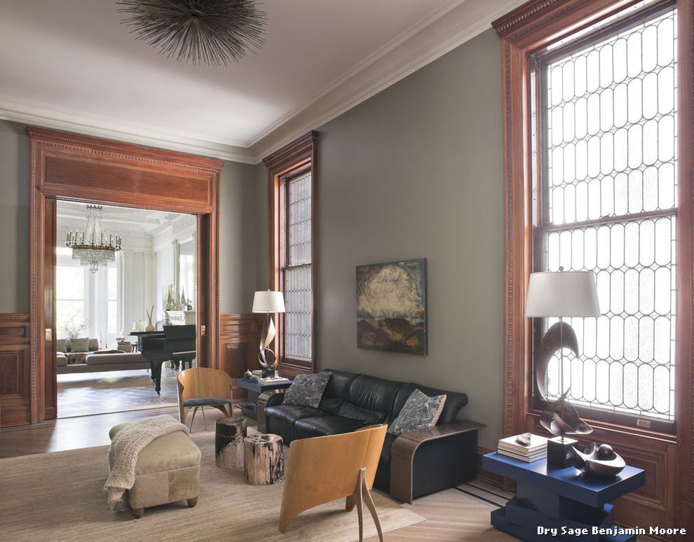 Dry sage benjamin moore with classique chic salle de for Architecture classique