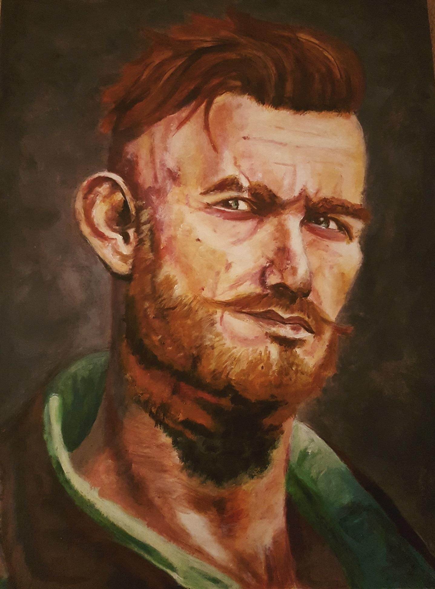 Olgierd von Everec from the witcher Acrylic paint A3 | Art ...