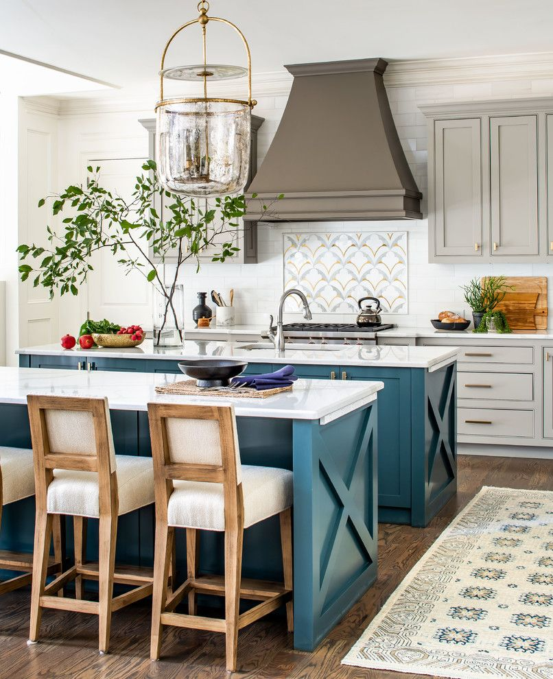 18 Fantastic Farmhouse Kitchen Designs That Will Warm Your Heart Traditional Kitchen Island Double Island Kitchen Farmhouse Kitchen Design