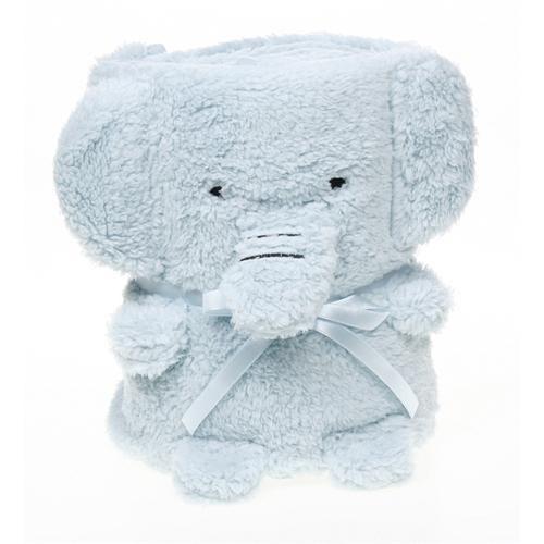 Cuddles Elephant Blue Blanket
