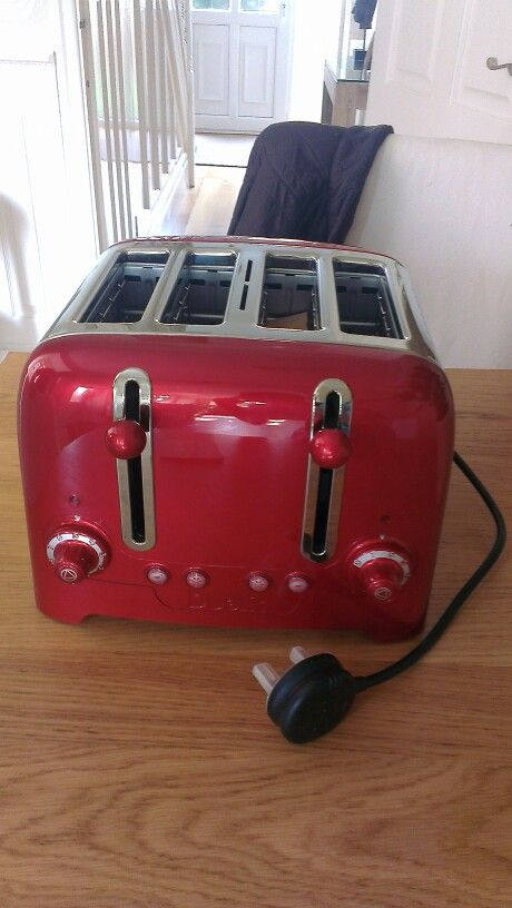 Red dualit toaster for our red themed kitchen :)