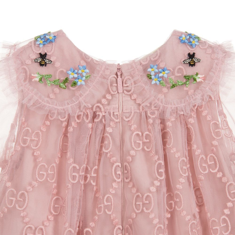d6070eba2 Gucci - Pink GG Tulle Dress     DRESSES FOR GIRLS   Kids wear, Tulle ...