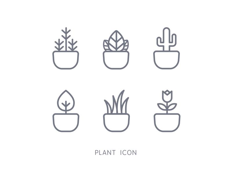 Plant Icon Plant Icon Plants Icon