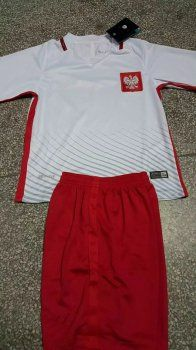 1e59ccd07 Poland National Team Youth Jersey 2016/17 Euro Home White Soccer Kids Kit  [F28]