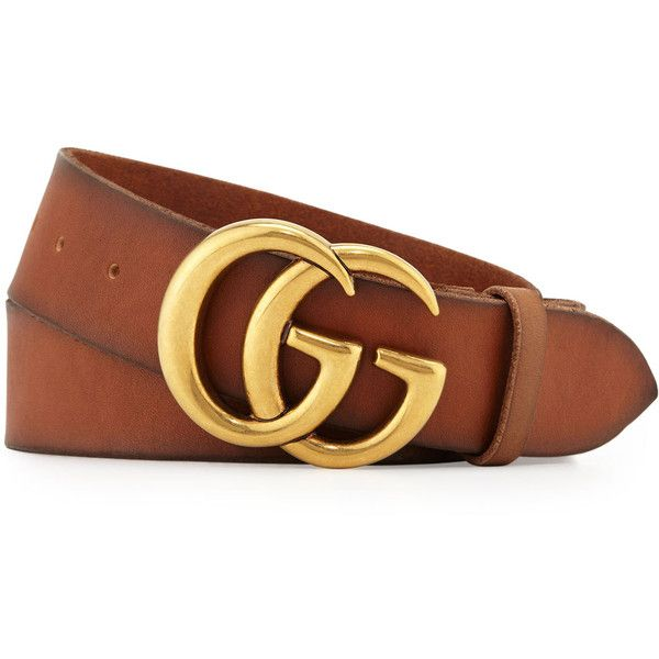 98e36093cbb66 Gucci Men s Leather Belt with Double-G Buckle ( 420) ❤ liked on Polyvore  featuring men s fashion