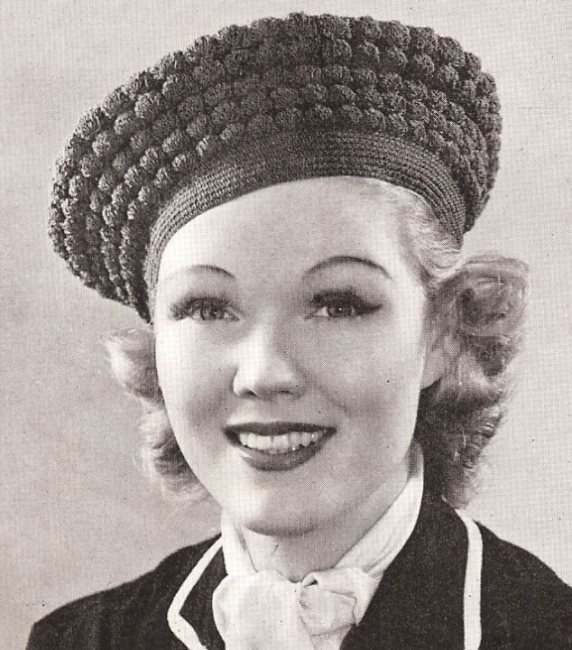 39bf53e02dfa7 Cute vintage beret on adorable 1930s cutie. Cheeky vintage chick ...