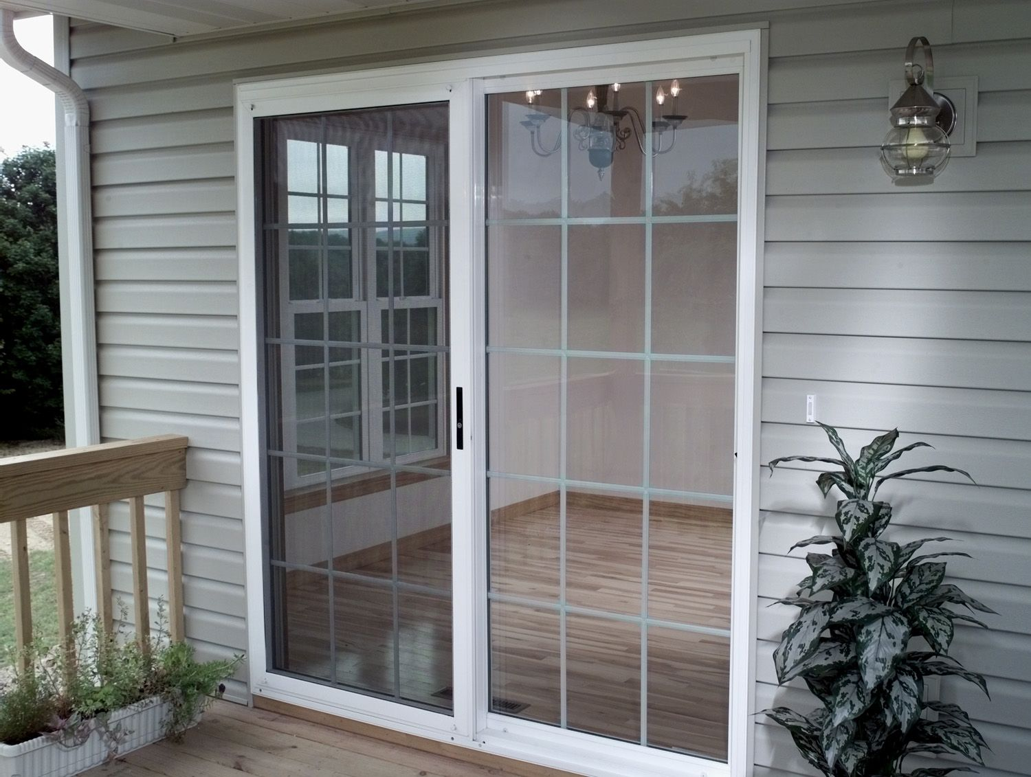Patio door w Colonial Grids  Ideas for the House in 2019