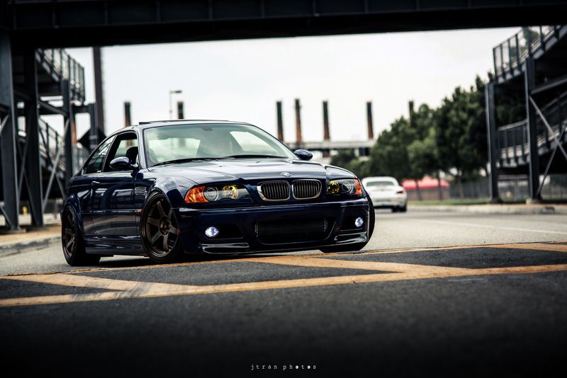 Bmw E46 M3 Blue Volk Te37 Bronze | Rides U0026