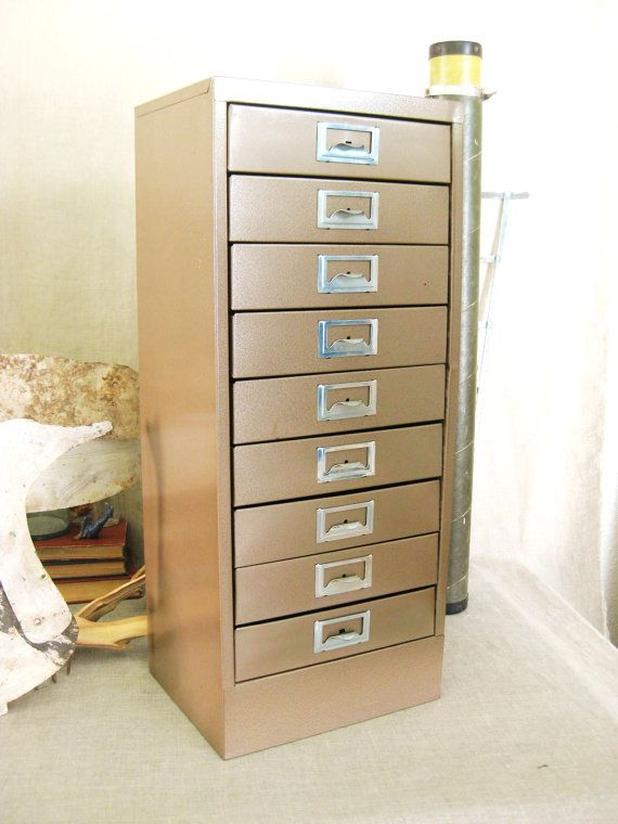 Metal Storage Cabinet With Drawers Vintage Small Drawer File By Wilshepherd