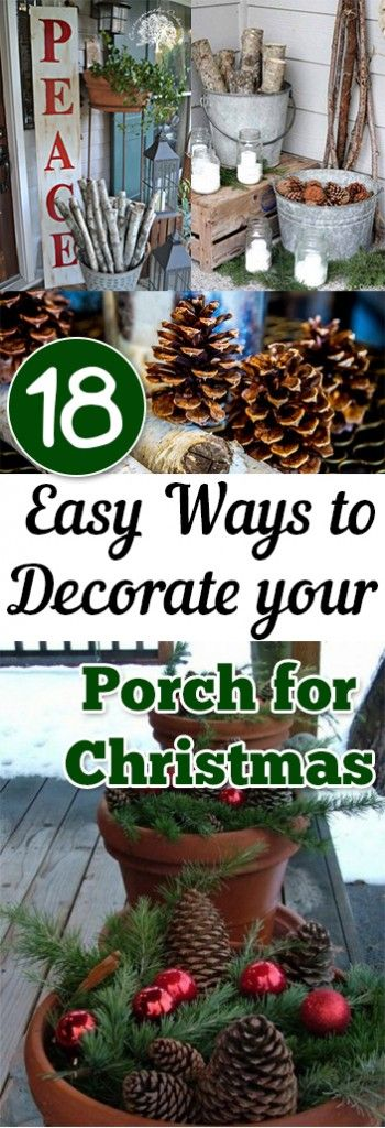 18 Easy Ways to Decorate your Porch for Christmas Christmas