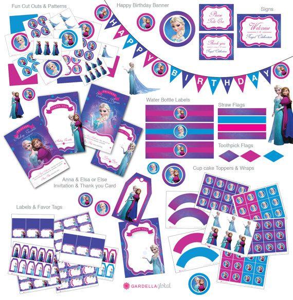 Frozen Birthday Party Frozen Invitation  Ice por GardellaGlobal, $6.00