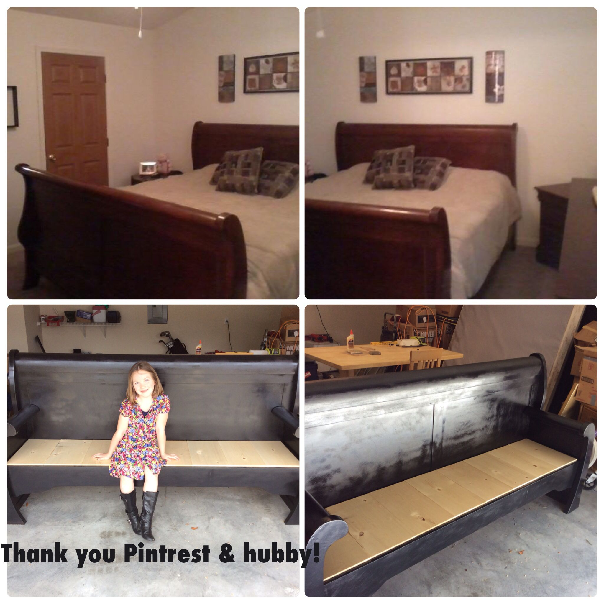 Bedroom Bench King Bed Sleigh Bed King Size Turned Into A Bench For The Whole