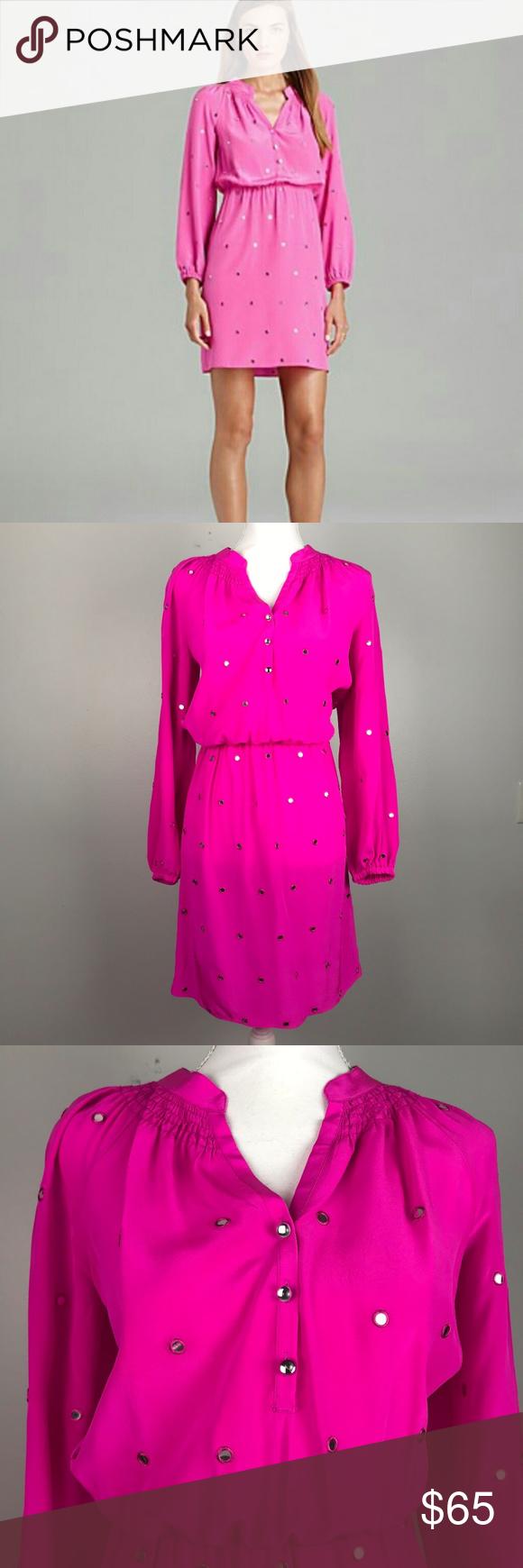 Lilly pulitzer xs turner hot pink dot dress