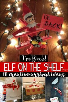 Elf is headed back to your home to the North Pole. Eighteen creative Elf on the Shelf Ideas for Arrival - Ways to say hello to your elf on their first night.#Elfie #theelfontheshelf #elfontheshelf #frugalcouponliving #elfideas #elfontheshelf2019 #elfontheshelf2018 #elfontheshelfideas #funnyelfontheshelf #elfontheshelfideasforkids #elfontheshelfideasforarrival #arival #firstnight #firstdayofelf #elfontheshelfarrival