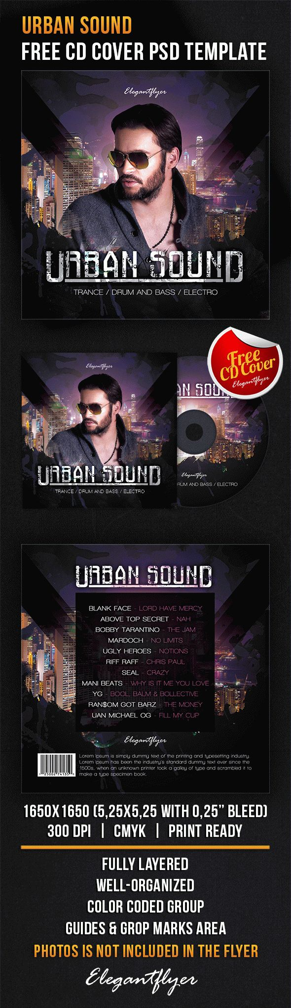 free cd cover urban sound free cd dvd cover templates