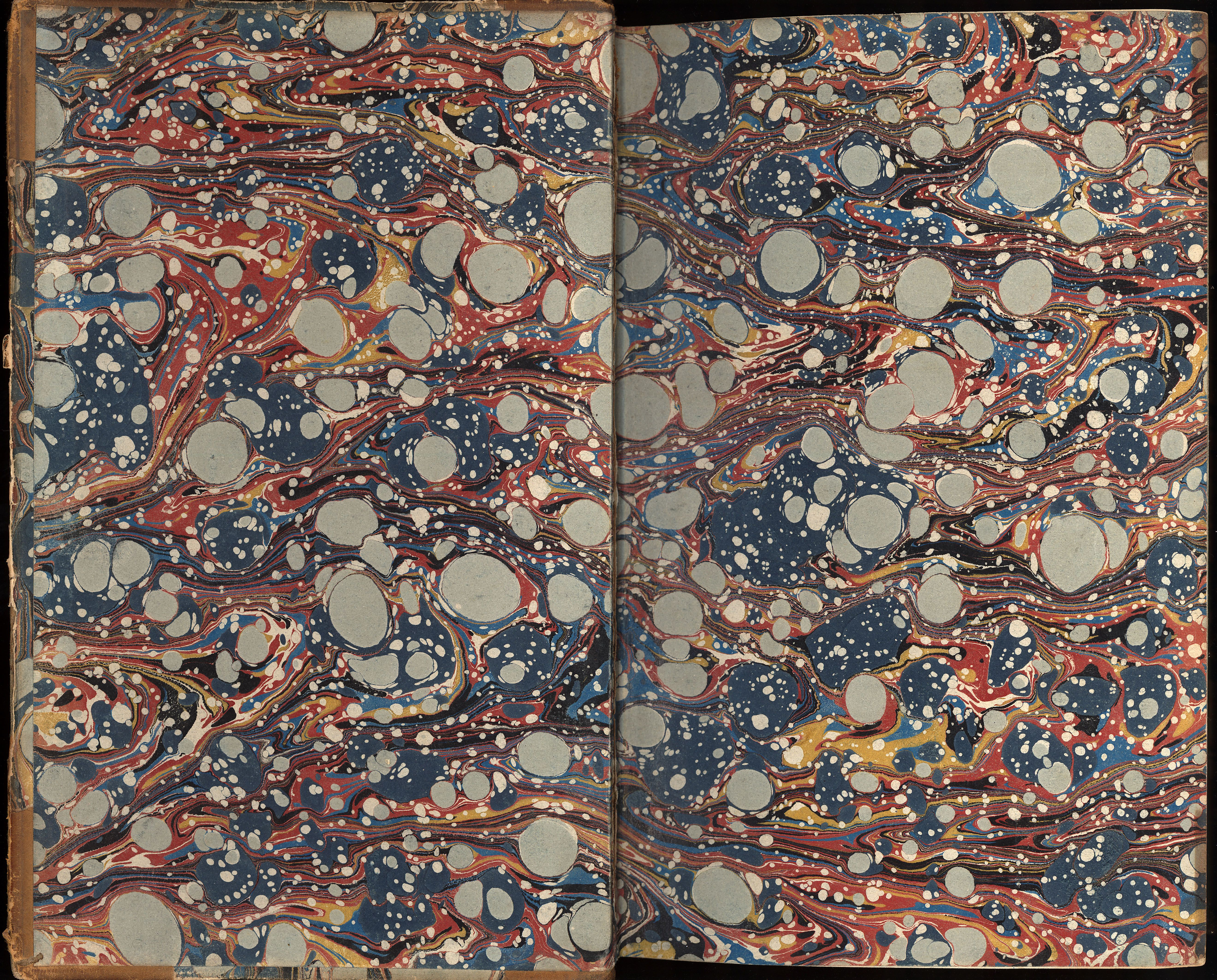 Marbled paper handmade paper for bookbinding antique by ArtOnWater