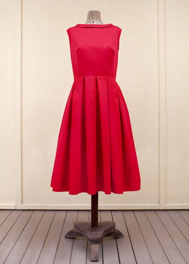 Ballkleid im Stil der 50er Jahre - kostenloses Schnittmuster | Stil ...