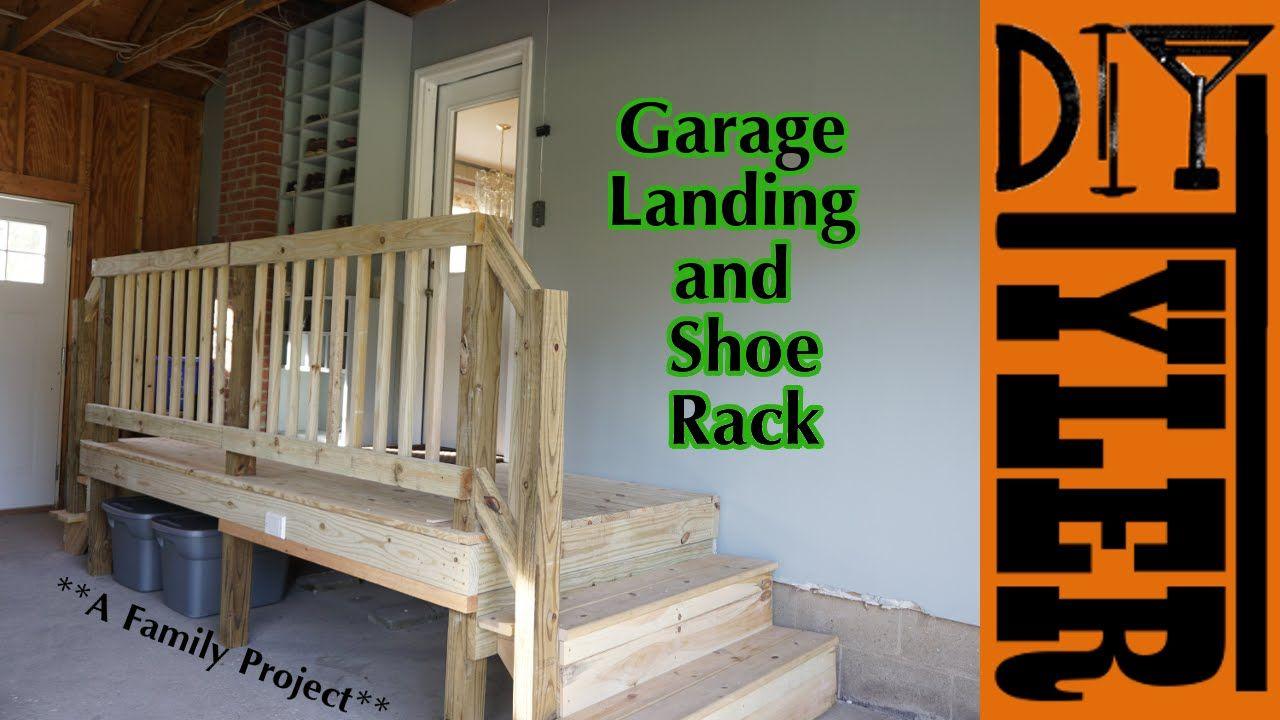 Garage Landing And Shoe Rack Garage Steps Garage Entryway Garage Floor Paint
