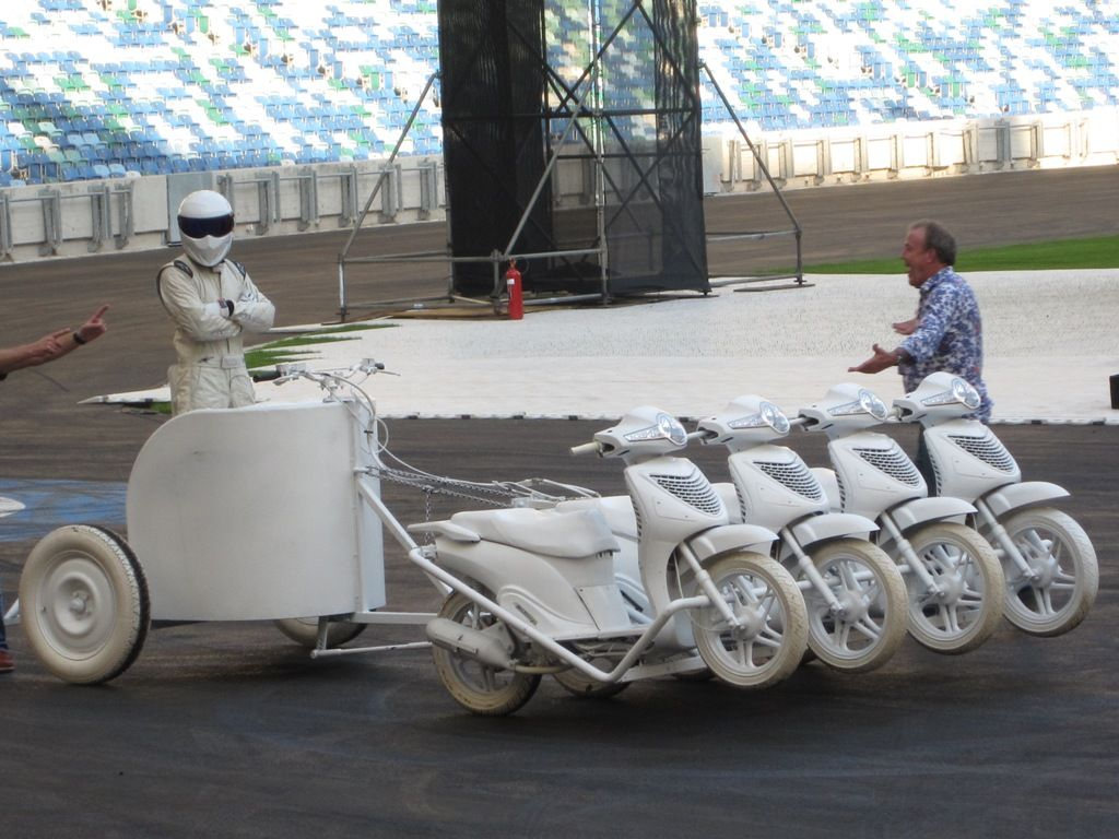 "Top Gear Festival 2012 | Durban, SA | Stiggy won the ""Chariot Race""...of course"