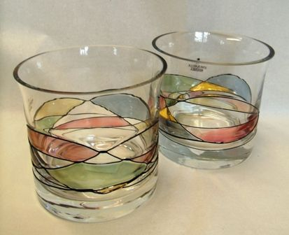Mosaic whiskey glasses