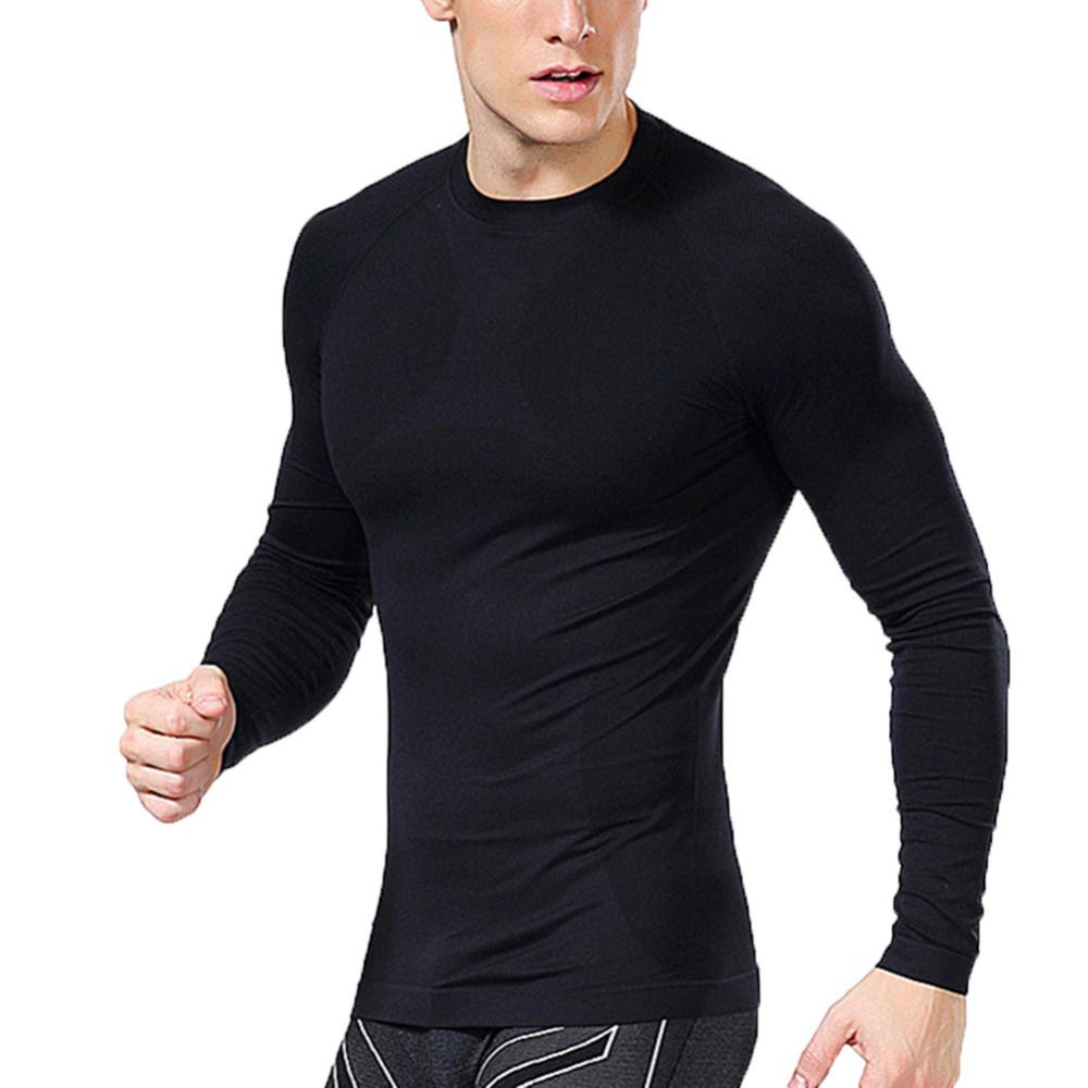 1cd56e227275 New Men Compression Under Base Layer Tops Fitness Tight Long Sleeve T-Shirts   Affiliate