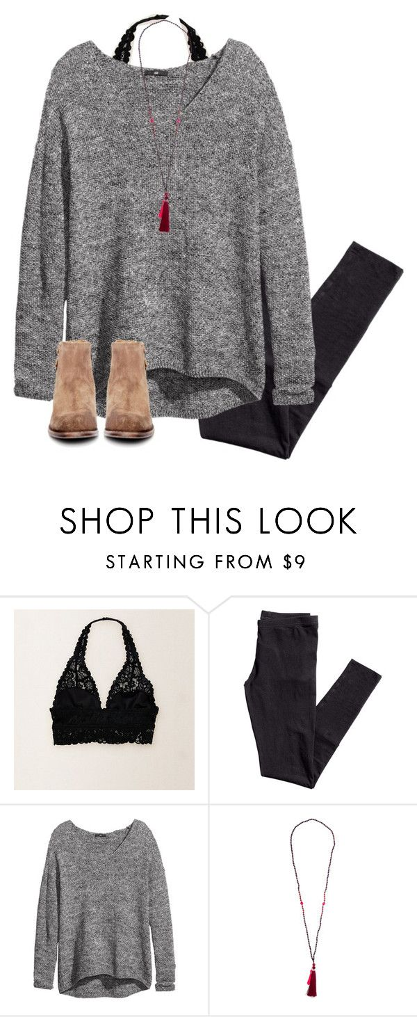 """My life officially sucks"" by skmorris18 ❤ liked on Polyvore featuring Aerie, H&M and H by Hudson"