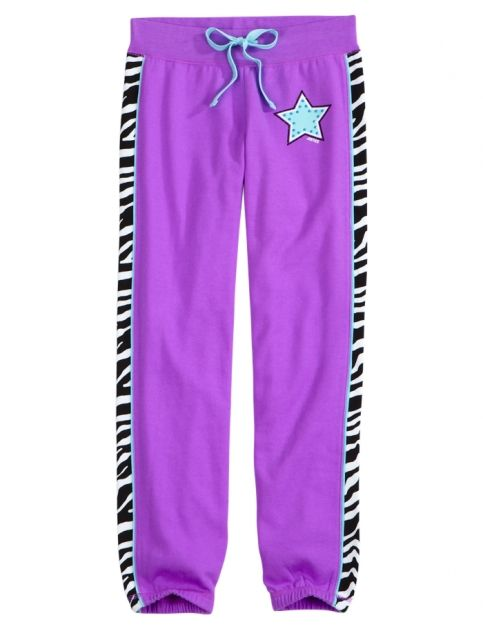 Zebra Inset Sports Fleece Cuff Sweatpants | Girls Sweatpants Clothes | Shop Justice