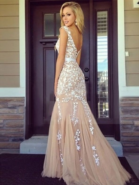 Beige Prom Dress Tumblr Looks  Prom  Prom Dresses -4391