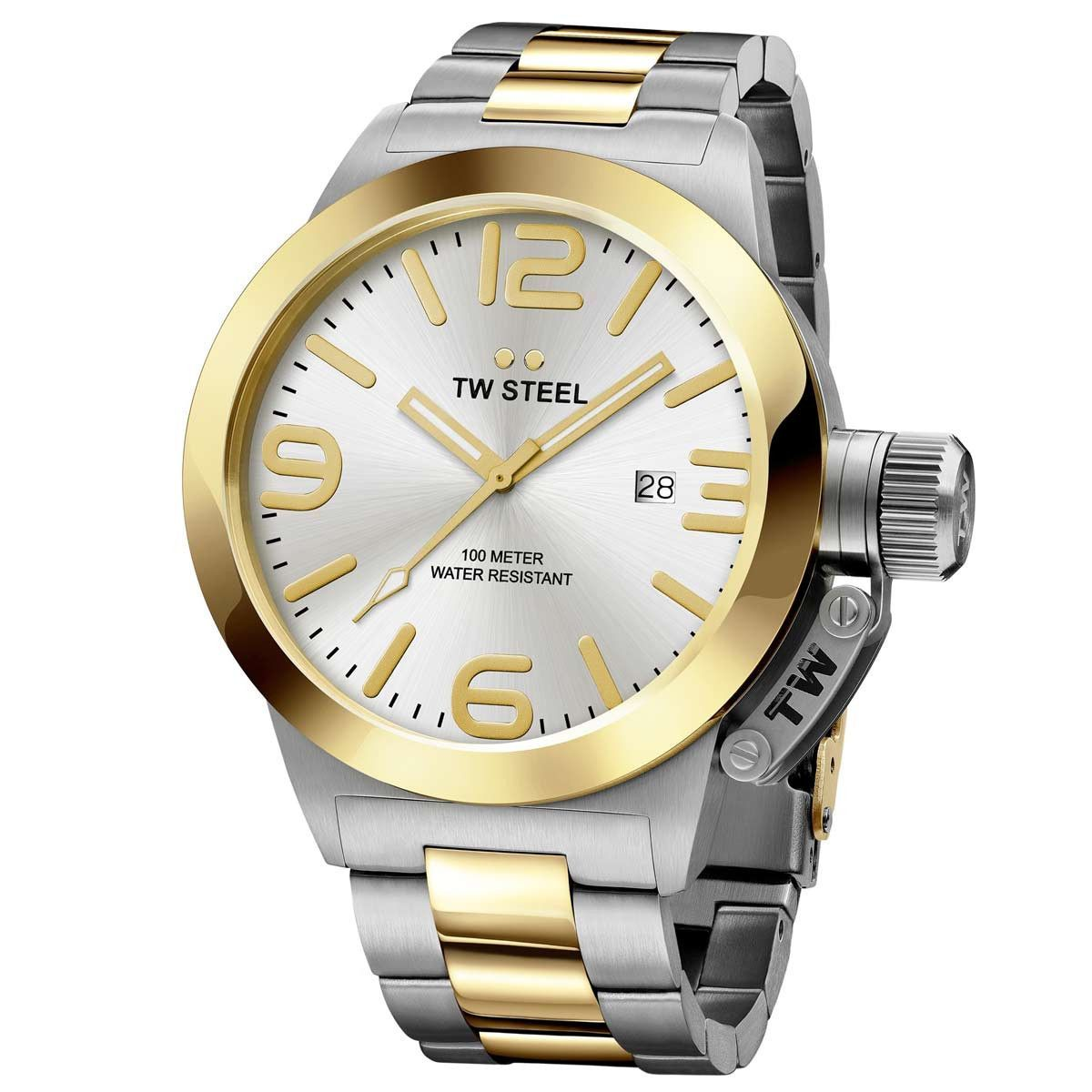 Cheap Latest Tw Steel Cb31 Canteen Steel And Yellow Gold Watch for Men Online Sale Sale
