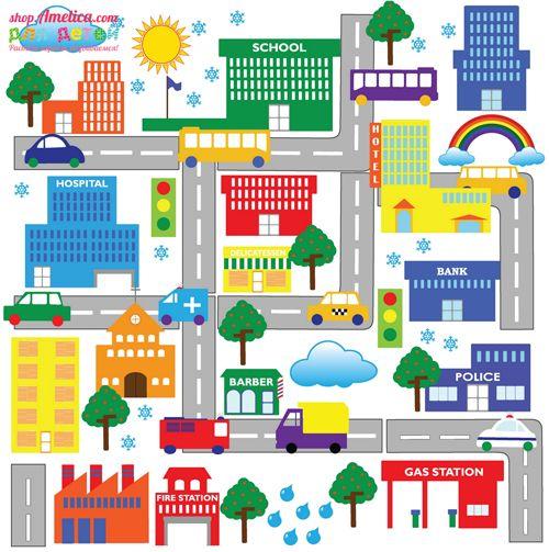 картинка город для детей