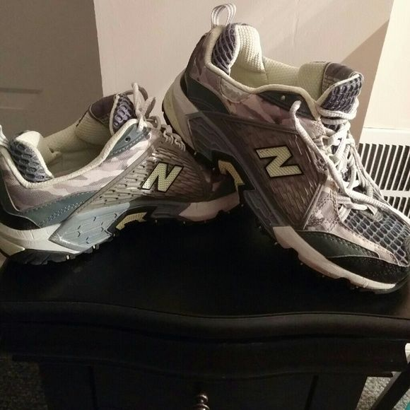 New Balance Sneakers Camo, mint green and grey camo, womans New Bakance, worn only a hand full of times, too small for me New Balance Shoes Sneakers